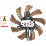 Cooler Master FY09015H12LPA DC12V 0.60A 8515 8CM 85mm 85X85X15mm 4Pin 4Wire Graphics Cooling Fan