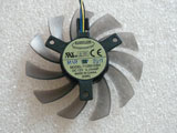 New Everflow ASUS GTX760 GTX660 GTX670 T128010SH DC12V 75*10mm 4Pin Video Graphics Card Cooling Fan