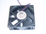 MECHATRONICS F8025E24B DC24V 0.140A 8025 8CM 80mm 80X80X25mm 2Pin 2Wire Cooling Fan