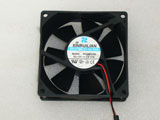 Xinruilian RDH8025S DC12V 0.17A 8025 8CM 80mm 80X80X25mm 2Pin 2Wire Cooling Fan