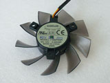 Everflow T128015SH DC12V 0.32A 7516 7CM 75mm 75X75X16mm 3Pin 3Wire Graphics Cooling Fan