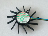 Protechnic MGT6012YF W10 DC12V 0.4A 6512 6CM 65mm  65x65x12mm 4Pin 4Wire Graphics Cooling Fan
