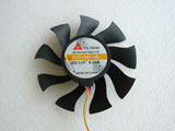 Y.S TECH YD128015HL DC12V 0.34A 7415 7CM 74mm 74x74x15mm 3Pin 3Wire Graphics Cooling Fan