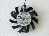 New ATI X1600 2600 X800 850 8500GT 3870 Everflow T126010DM 55x55x10mm DC12V 2Pin Graphics Card Cooling Fan