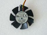 Everflow T125010SH DC12V 0.25AMP 4710 4CM 47mm 47X47X10mm 3Pin 3Wire Graphics Cooling Fan