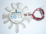 Silentmatic SFA7015LU 12A DC12V 0.14A 6515 6CM 65mm 65x65x15mm 2Pin 2Wire Graphics Cooling Fan