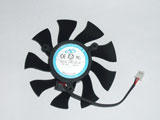 NTK FD8015H12S DC12V 0.32A 7316 7CM 73mm 73X73X16mm 2Pin 2Wire Graphics Cooling Fan