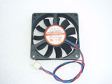 EVERCOOL EC7015M12CA DC12V 0.26A 7015 7CM 70MM 70X70X15MM 3pin Cooling Fan