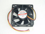 EVERCOOL EC6020H12C DC12V 0.13A 1.56W 6020 6CM 60MM 60X60X20MM 3pin Cooling Fan