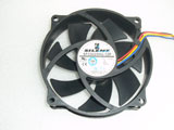 SilentMatic SFC9225HU-12P DC12V 0.52A 9525 4Pin 95mm 95x95x25mm Cooling FAN