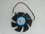 Sapphire X1300 HD4650 HD3650 NTK DF0501012SEE2C DC12V 0.05A 39mm 50x50x10mm Graphics Card Cooling Fan