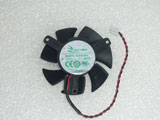 APISTEK GA51S2L GA51S2L-NNTH DC12V 0.13A 50MM 50X50X10mm 50*50*10mm 2pin GPU Graphics Card Cooling Fan