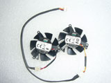 Zotac Sapphire X1300 HD4650 HD3650 FY04510H12SAA FY04510H12SFA Graphics Card Dual Cooling Fan