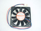 EVERCOOL EC7015M12CA DC12V 0.18A 2.16W 7015 7CM 70MM 70X70X15MM 3pin Cooling Fan