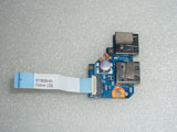 HP Pavilion DM4-2000 Dual 2x USB Port Board W/Cable 6050A2408401 A2408401 6035B0061601