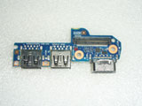 HP EliteBook 840 G1 ZBook 14 VGA Jack Dual USB Port Board 6050A2559201-USB-A02 6050A2559201