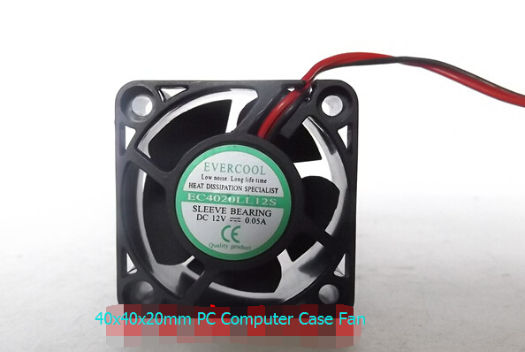 EVERCOOL EC4020LL12S 12V 0.05A 40MM PC Computer Chassis Case 2pin Cooling Fan
