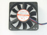 EVERCOOL EC7015L12CA DC12V 0.16A 1.92W 7015 7CM 70mm 70x70x15mm 3pin 3wire Cooling Fan