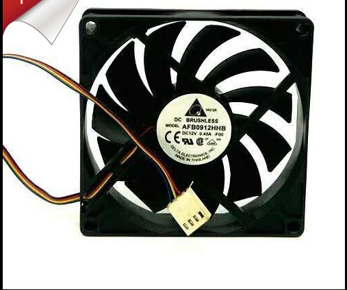 Delta Electronics AFB0912HHB DC12V 0.45A 9015 9CM 90MM 90*90*15MM 4Wire 4Pin Cooling Fan