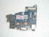Dell Latitude E6430 04J7P5 QAL80 LS-7782P Audio LAN Ethernet VGA USB Sub Connector Board