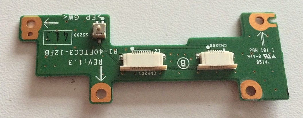 SONY VAIO VGN-B100 SWX-178 P1-40FTCC3-12FB Touchpad Mouse Button Swtich Circuit Board