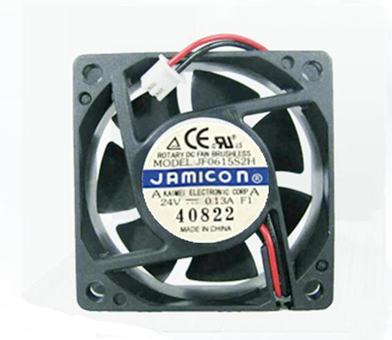 JAMICON JF0615S2H DC24V 0.13A 6015 6CM 60mm 60*60*15mm 2Pin Server Square Cooling Fan