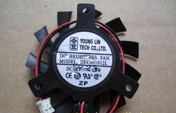 New ATI X1600 2600 X800 850 8500GT 3870 YOUNG LIN DFC601012L 6010 55mm 40mm DC12V 2Pin Graphics Card Cooling Fan