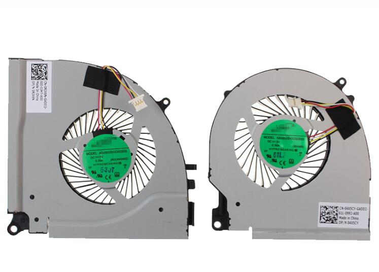 Set of 2pcs New DELL Inspiron I5 Ins15 7000 7557 7559 AB09005HX090B00 0RJX6N AB08505HX090B00 04X5CY CPU+GPU Cooling Fan