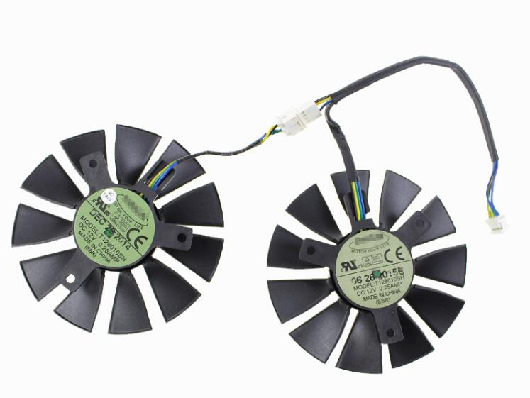 New ASUS STRIX GTX960 GTX950 GTX750Ti R9 370 EVERFLOW T128010SH GPU Graphics Card Video Cooling Fan