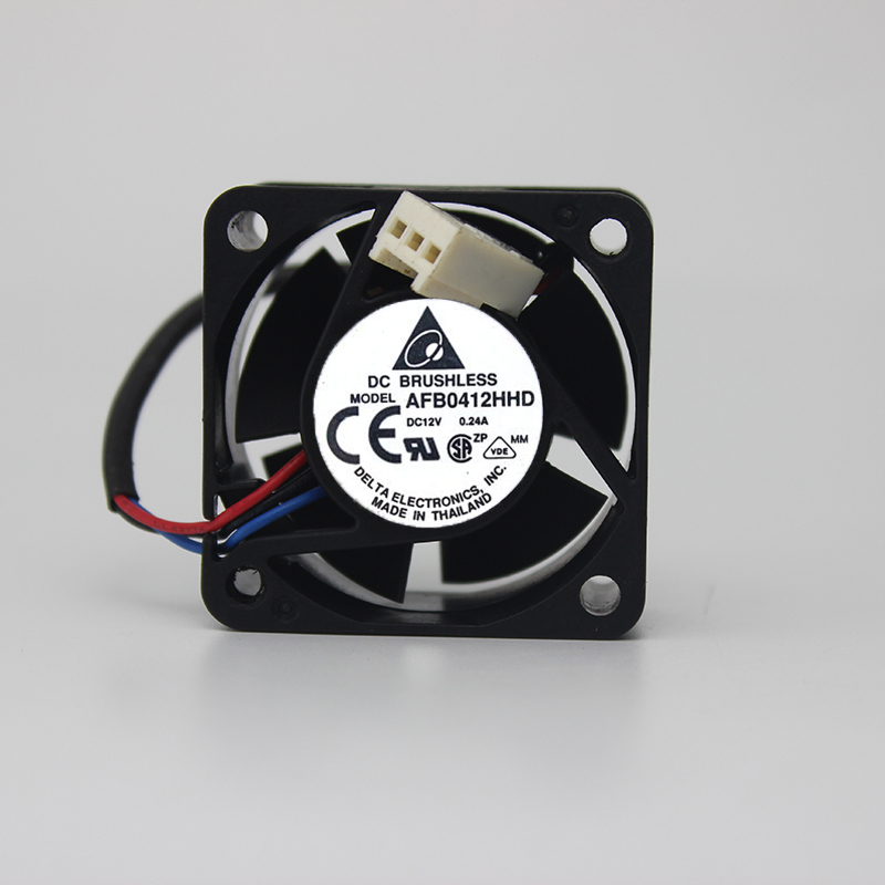 Delta AFB0412HHD DC12V 0.24A 4020 4CM 40MM 40*40*20MM 3Wire 3Pin Cooling Fan
