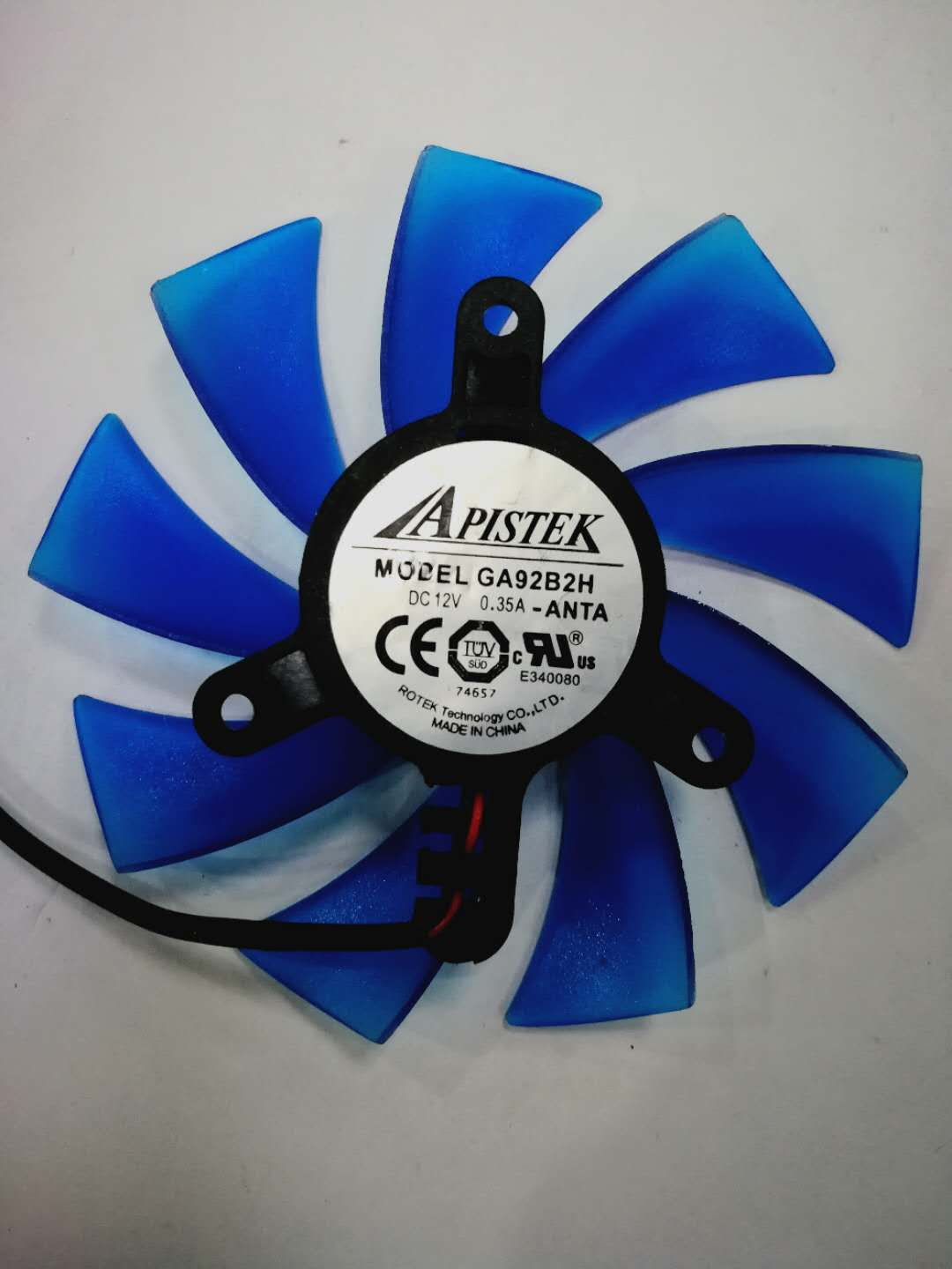 APISTEK GA92B2H ANTA DC12V 0.35A 2Pin 2Wire Video Graphics Card Cooling Fan