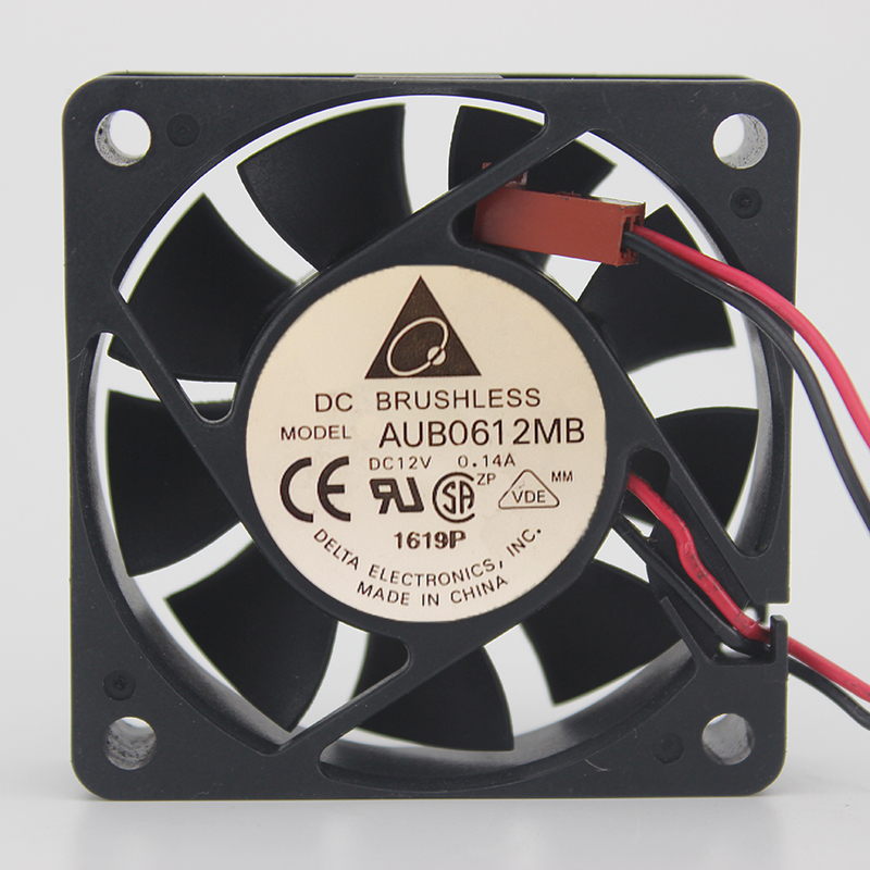 Delta AUB0612MB DC12V 0.14A 6015 6CM 60MM 60*60*15MM 2Wire 2Pin Cooling Fan