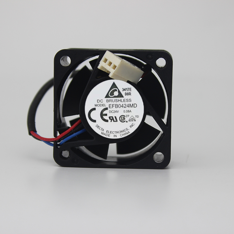 Delta EFB0424MD 4020 4CM 40MM 40*40*20MM DC24V 0.08A 3Wire 3Pin Cooling Fan