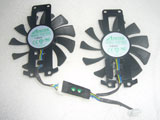 Apistek GA81S2U PFTO DC12V 0.38A GA81S2U 4Wire Graphics Card Cooling Fan