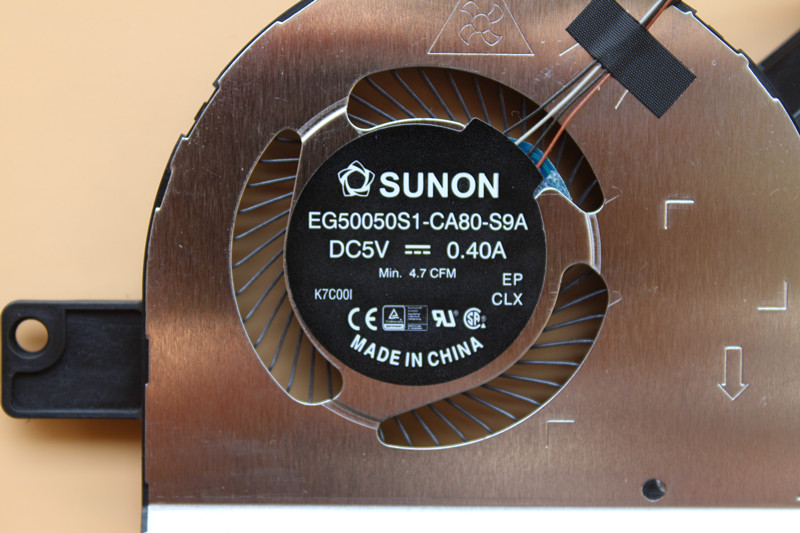 Dell Latitude 5580 0314FC EG50050S1-CA80-S9A DC5V 0.40A 4Wire 4Pin Cooling Fan
