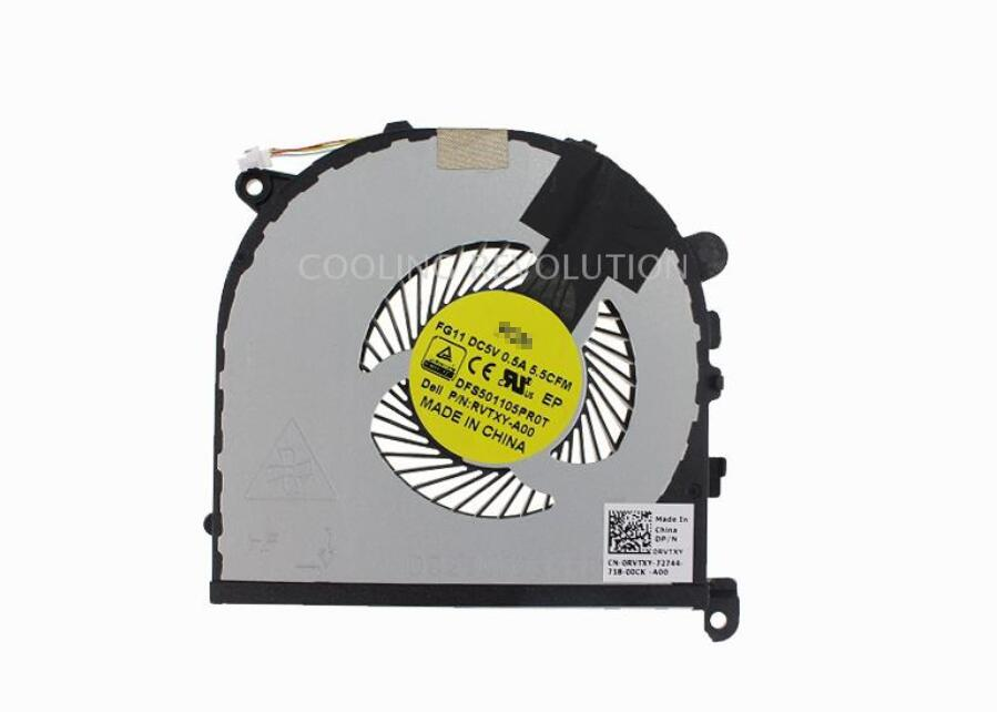 New For Dell XPS 15 9550 5510 0HYY21 0RVTXY RVTXY FG11 DFS501105PR0T RVTXY-A00 CPU Cooling Fan