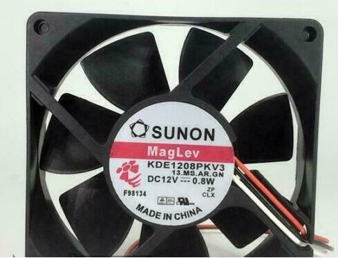 SUNON KDE1208PKV3 13.MS.AR.GN DC12V 0.8W 3Pin 3Wire 80x80x20mm 80mm Cooling Fan