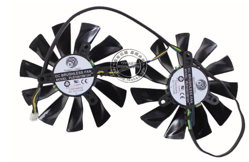 New MSI GTX770 GTX680 GTX 770 680 R7970 Lightning POWER LOGIC PLD10015B12H 4Pin Video GPU Graphics Card Cooling Fan