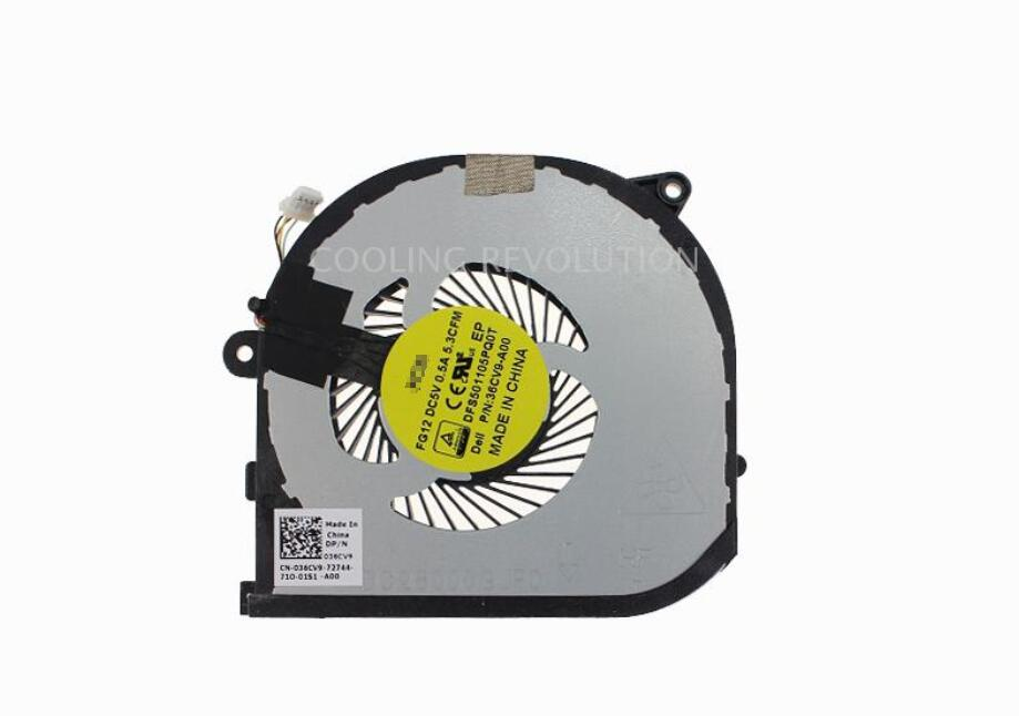 New For Dell XPS 15 9550 5510 0HYY21 036CV9 36CV9 FG12 DFS501105PQ0T 36CV9-A00 GPU Cooling Fan