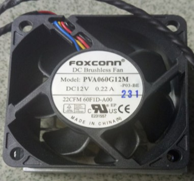 DELL Precision T7600 T7610 PVA060G12M -P03-BE 60F1D-A00 0X2JYK X2JYK DC12V 6025 6CM 60mm 60x60x25mm 5Pin Cooling Fan