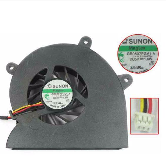 Acer Aspire 9800 9810 9920 SUNON GB0507PGV1-A 13.V1.B2190.F.GN DC5V 1.6W 3Wire 3Pin CPU Cooling Fan