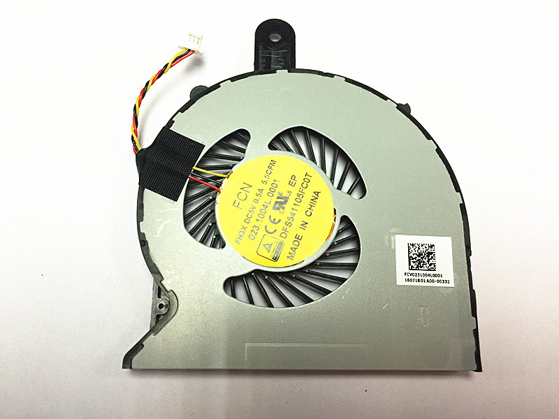 New DELL INSPIRON 14-3458 14-3459 14 3458 3459 FCN FH3X 023.1004L.0001 DFS541105FC0T CPU Cooling Fan