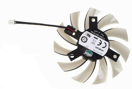 New GIGABYTE N630-2GI GT630 GT240 430 440 N730 FY08010H12LAA DC12V 2-Pin 75mm 40mm Graphics Card Cooling Fan