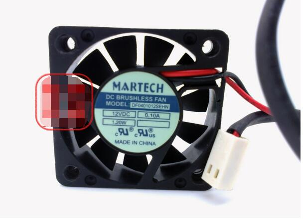 MARTECH DF0401012SEHN DC12V 0.10A 1.20W 4010 4CM 40MM 40X40X10MM 40*40*20mm 2Wire 2pin Cooling Fan